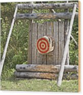 Outdoor Wooden Bulls-eye Wood Print by Jaak Nilson