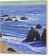 Pacific Solitude Wood Print