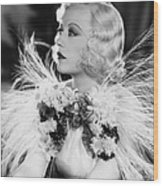 Page Miss Glory, Marion Davies, 1935 Wood Print by Everett