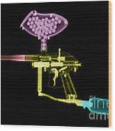 Paintball Gun Wood Print