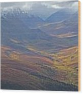 Panoramic View Of The North Klondike Wood Print