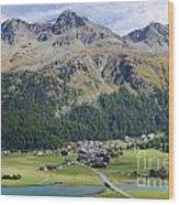 Panoramic View Over Mountain Wood Print