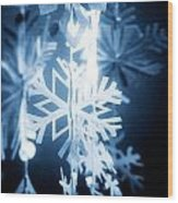 Paper Snowflake Wood Print