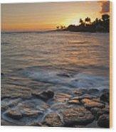 Paradise Sunset Wood Print