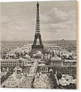 Paris: Eiffel Tower, 1900 Wood Print