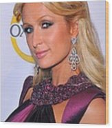 Paris Hilton At A Public Appearance Wood Print