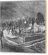 Paris: Sewers, 1869 Wood Print