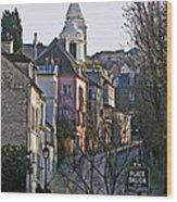 Parisian Street Scene Wood Print