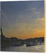 Parisian Sunset. Wood Print