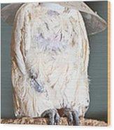 Parrot White Wood Print