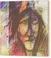Pastel Man 12 Wood Print