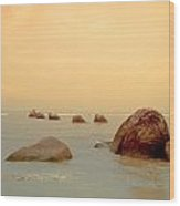 Pastel Rocks Wood Print by Allan Rufus