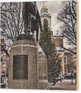 Paul Revere-statue Wood Print