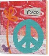 Peace Wood Print by Linda Woods