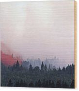 Peat Bog Fire Wood Print by Kaj R. Svensson