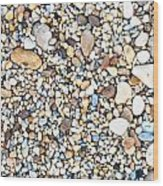 Pebbles Wood Print by Tom Gowanlock