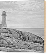 Peggy's Point Lighthouse Wood Print
