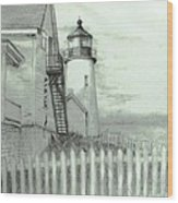 Pemaquid Lighthouse  Wood Print by Jack Skinner