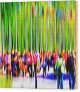 People Walking In The City-9 Wood Print