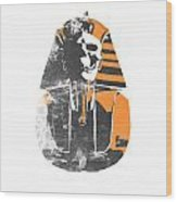 Pharaoh Stencil  Wood Print by Pixel  Chimp