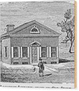Philadelphia: Library Wood Print