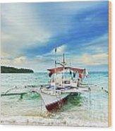 Philippine Boat Wood Print