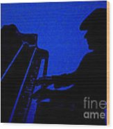 Piano Man Wood Print