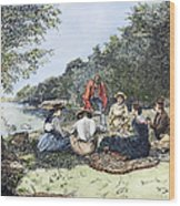 Picnic, 1885 Wood Print