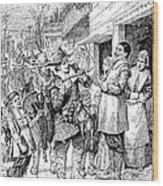 Pilgrims: Thanksgiving, 1621 Wood Print