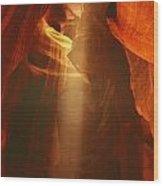 Pillars Of Light - Antelope Canyon Az Wood Print