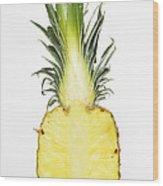 Pineapple Ananas Comosus Wood Print