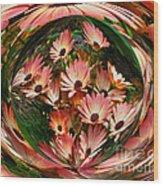 Pink African Daisies Wood Print