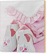 Pink Baby Clothes For Infant Girl Wood Print