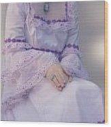 Pink Wedding Dress Wood Print