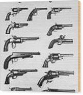 Pistols And Revolvers Wood Print