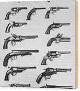 Pistols And Revolvers Wood Print