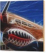 Plane Flying Tigers Wood Print