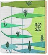 Plant Evolution, Diagram Wood Print by Gary Hincks