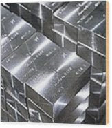 Platinum Bars Wood Print