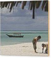 Pongwe Beach Hotel  Wood Print