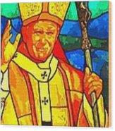 Pope John Paul 11 Wood Print