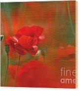 Poppy Flowers 02 Wood Print