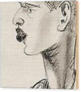 Portrait Wood Print by Odon Czintos