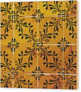 Portuguese Tiles Wood Print