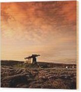 Poulnabrone Dolmen, The Burren, Co Wood Print