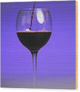 Pouring Wine Wood Print