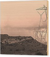 Power Lines Wood Print by Viktor Savchenko