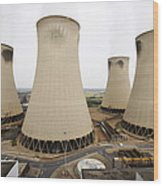 Power Station Cooling Towers Wood Print