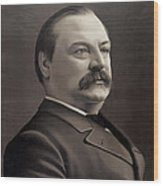 President Grover Cleveland Wood Print