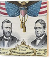 Presidential Campaign, 1868 Wood Print